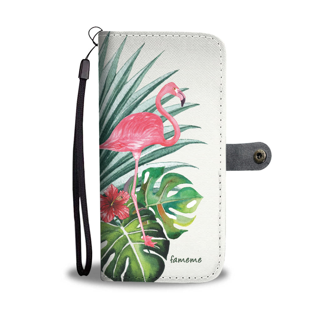 Beautiful Pink Flamingo Wallet Phone Case