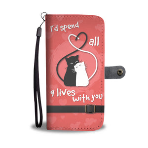 Beautiful Wallet Phone Case for Cats Lovers