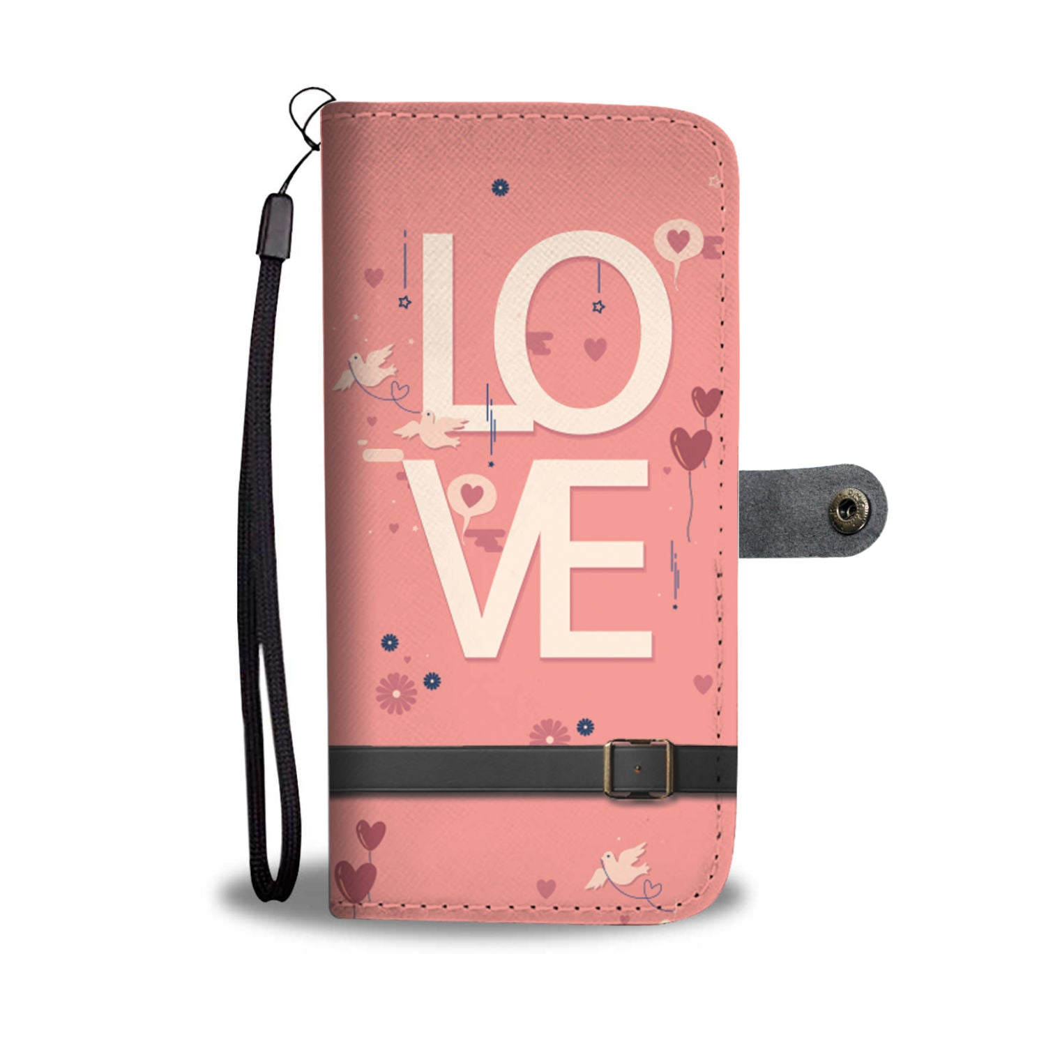 Beautiful Love Wallet Phone Case