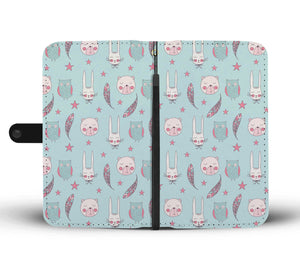 Beautiful Rabbit/Owl/Dog Wallet Phone Case