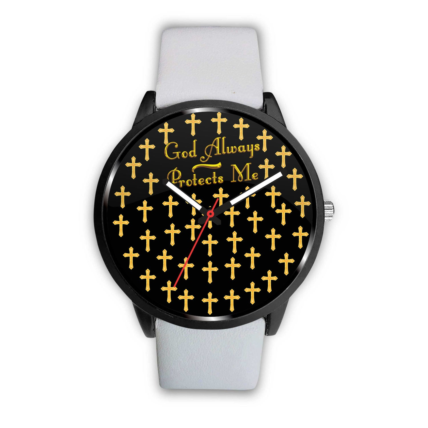 "Beautiful Gold ""God Always Protect Me"" Watch"