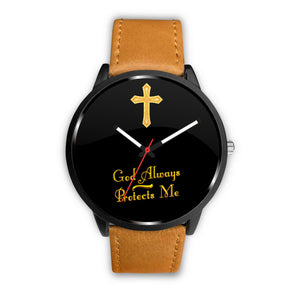 "Beautiful Custom Designed ""God Always Protect Me"" Watch"