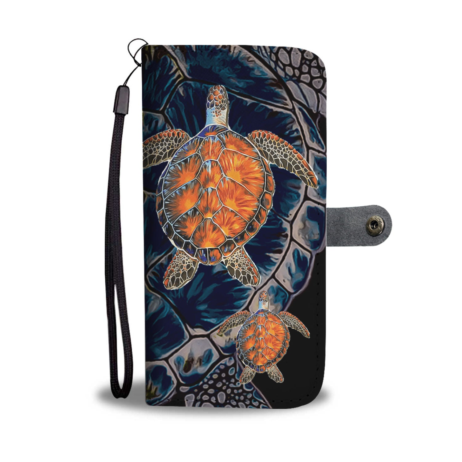 Awesome Custom Designed Sea Turtle Wallet Phone Case