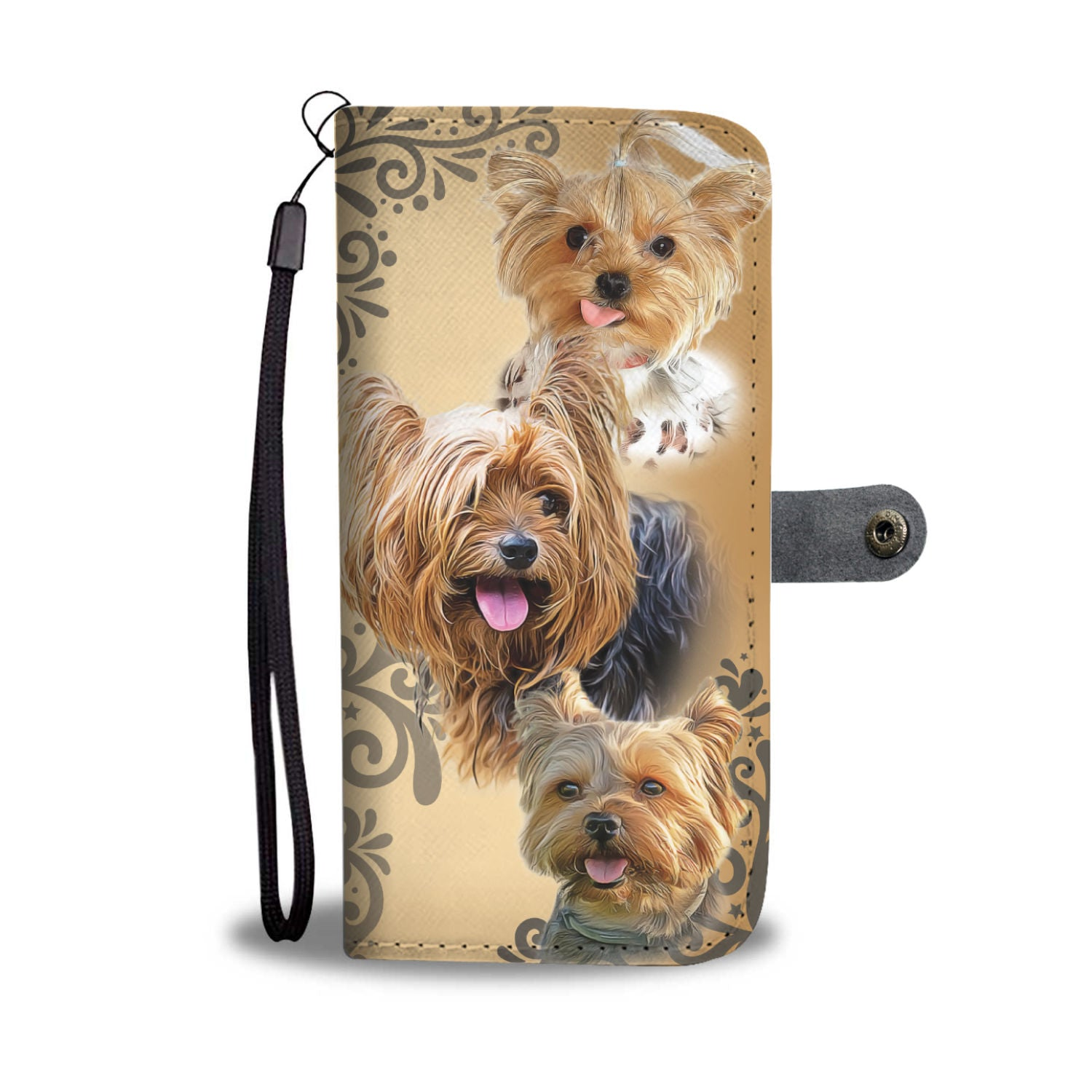 Beautiful Custom Designed Yorkshire Love Dog Wallet Phone Case