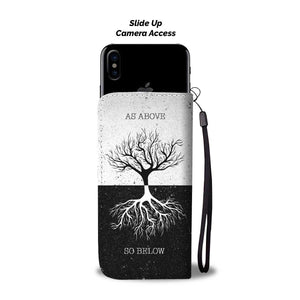 As Above So Below Wallet Phone Case