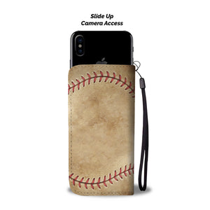 Vintage Baseball Wallet Phone Case