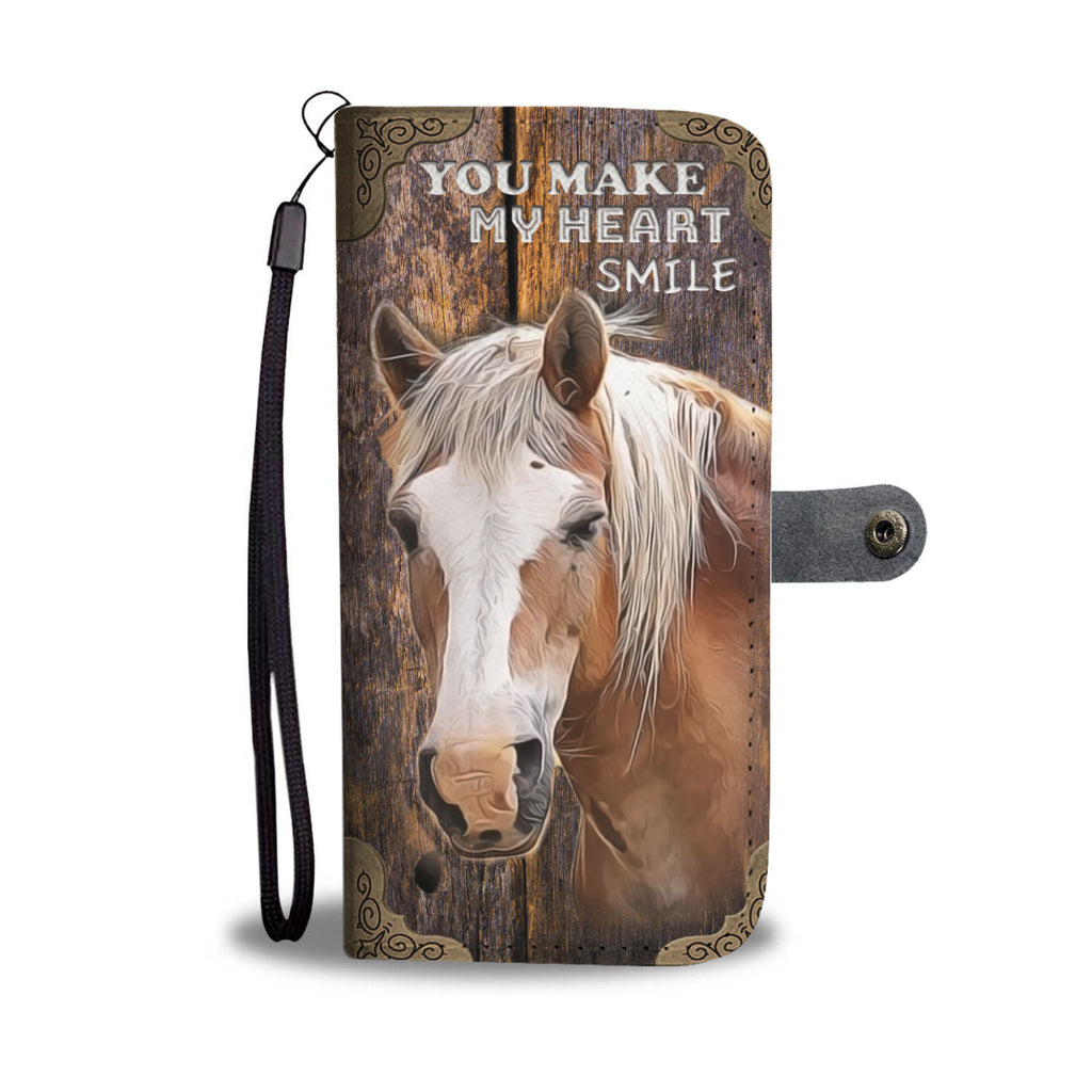 You Make My Heart Smile Horse Wallet Phone Case