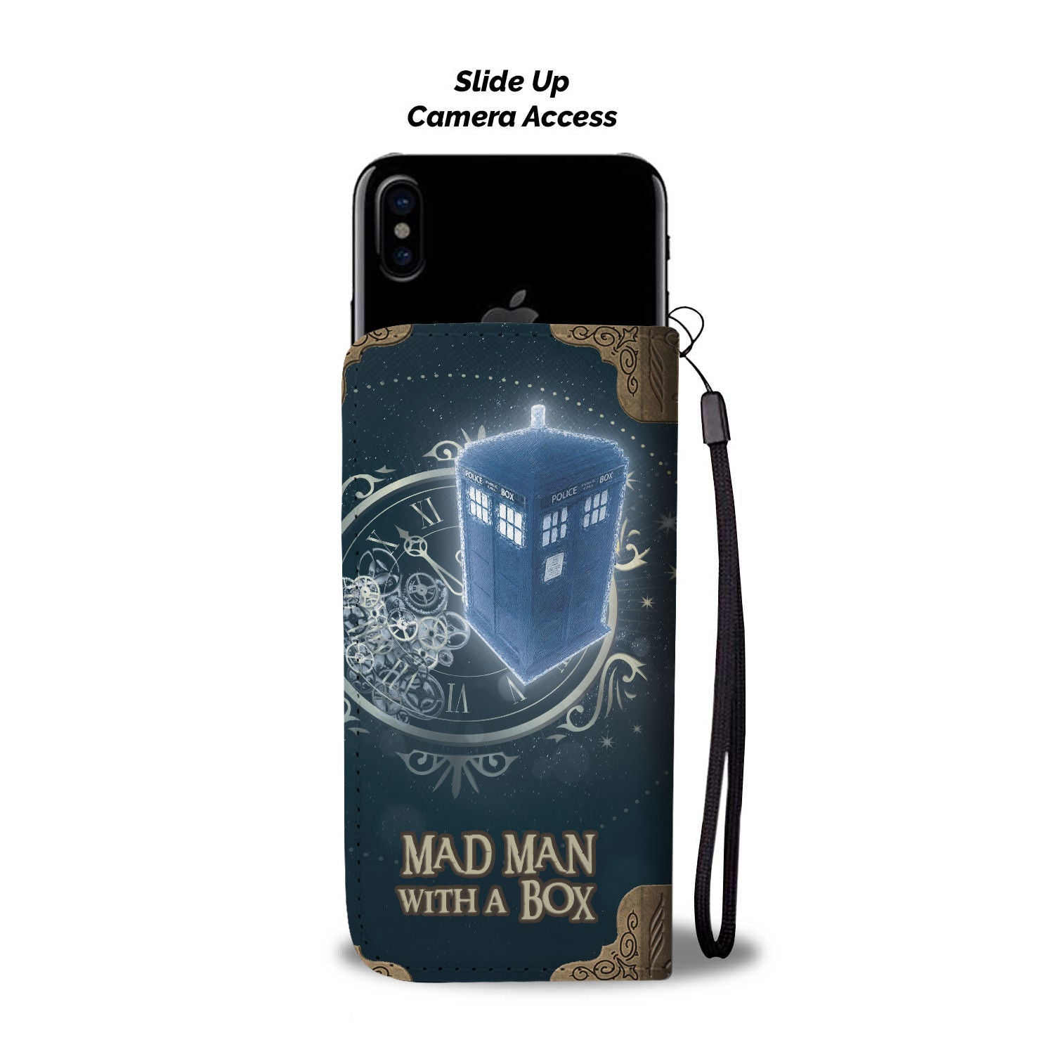Mad Man With A Box - Wallet Phone Case