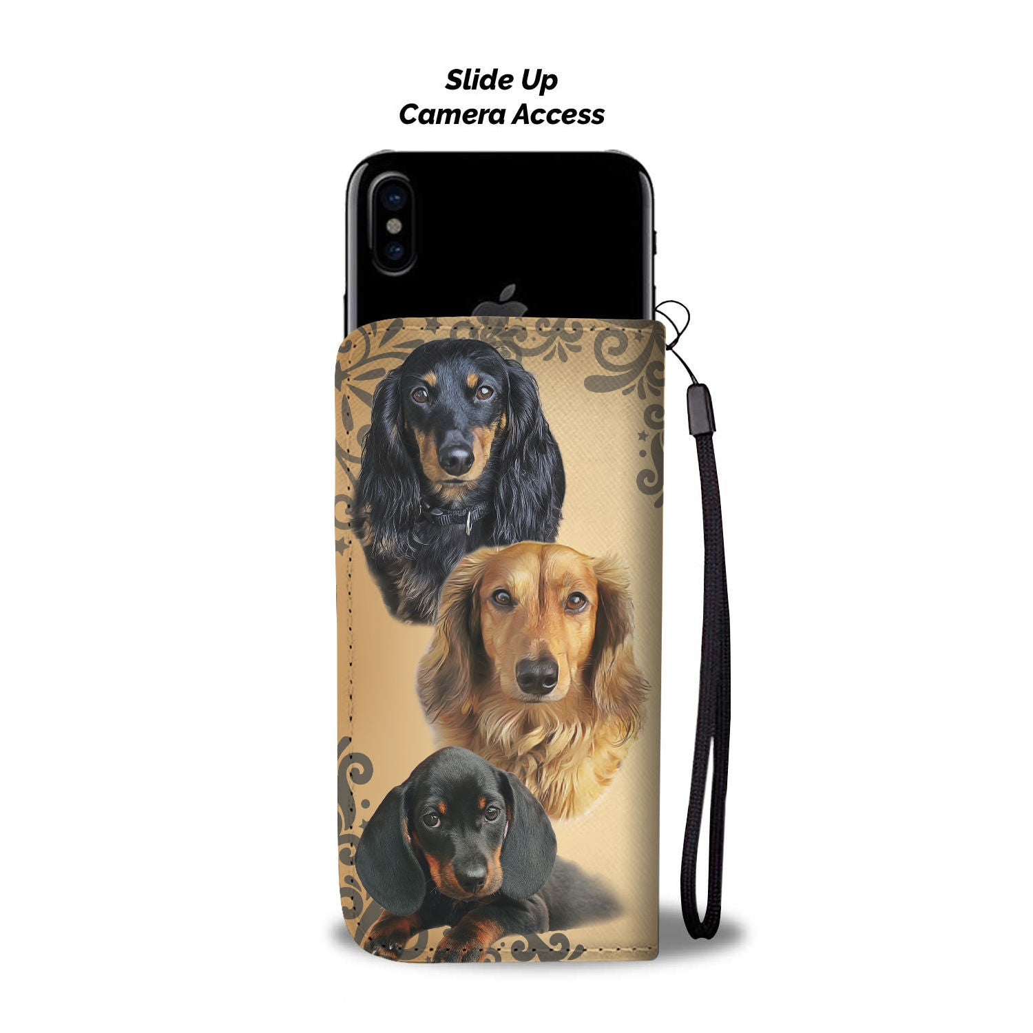 Love Dachshund Wallet Phone Case