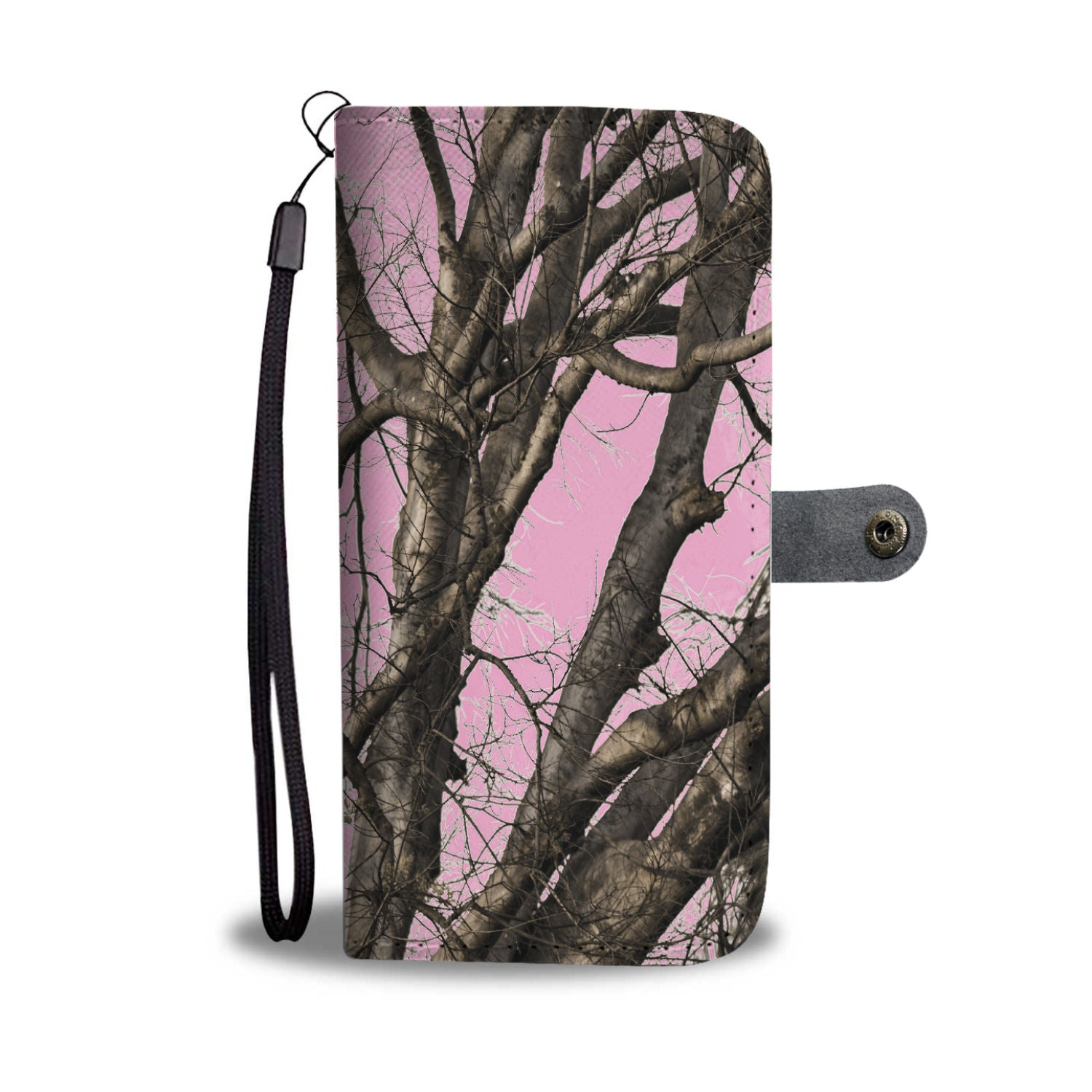 Custom Designed Pink Camo Wallet Phone Case