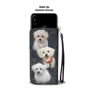 Beautiful Custom Designed Maltese Dog Wallet Phone Case