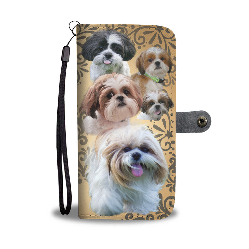 Love Cute Shih Tzu Dog Wallet Phone Case