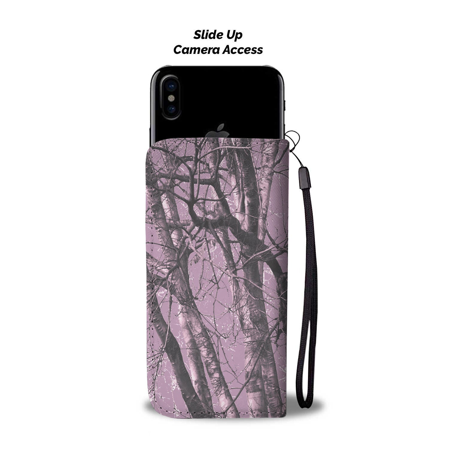 Purple Camo Wallet Phone Case