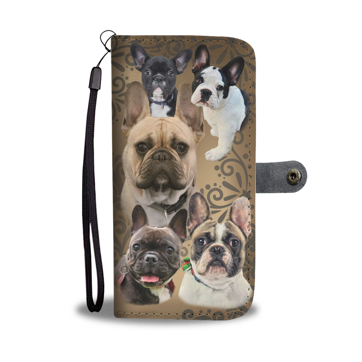 Love French Bulldog Wallet Phone Case
