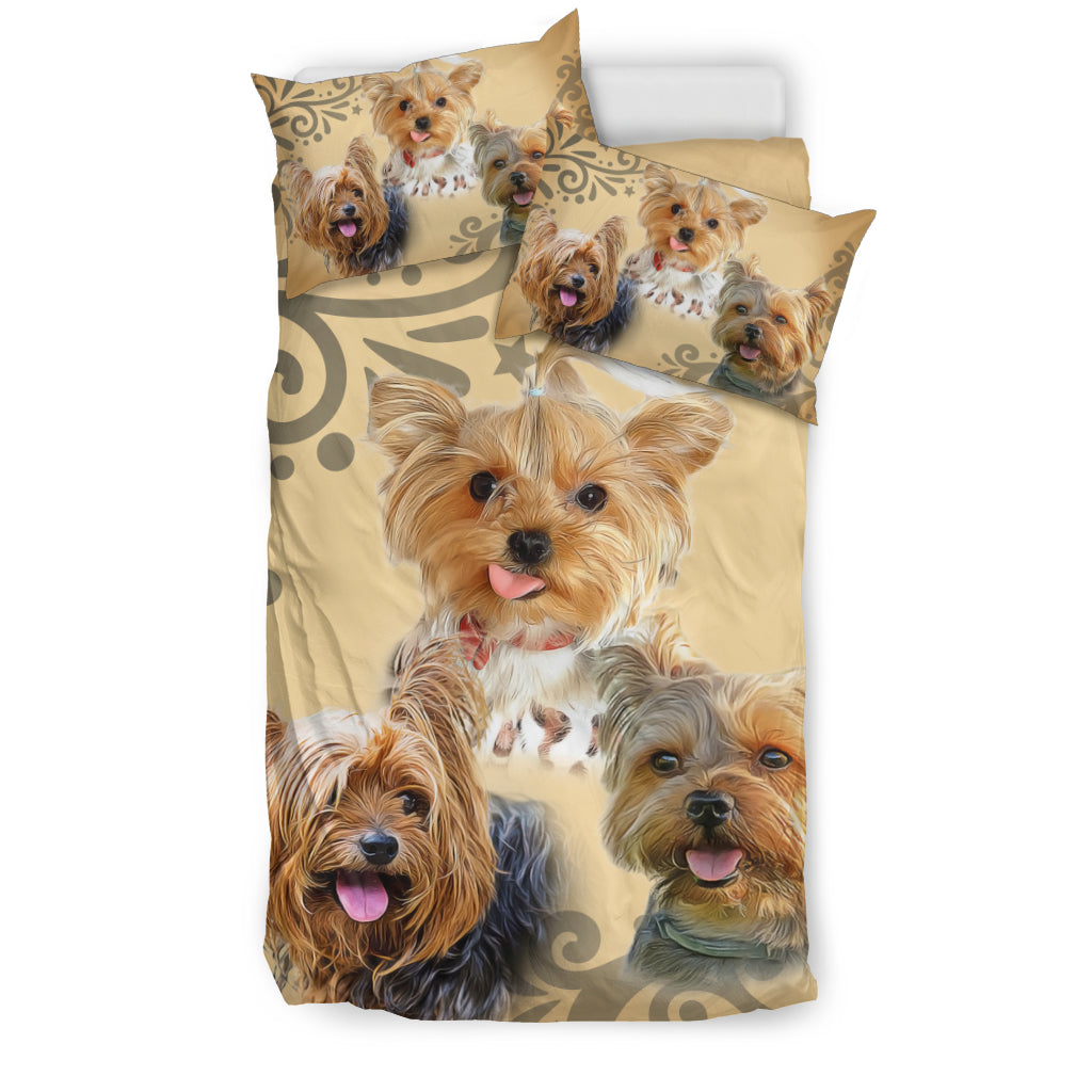 Cute Yorkie Bedding Set