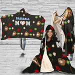 Baseball Mom Premium Sherpa Hooded Blanket