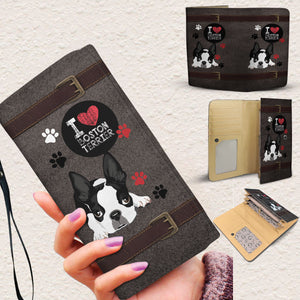 I Love Boston Terrier Women's Wallet