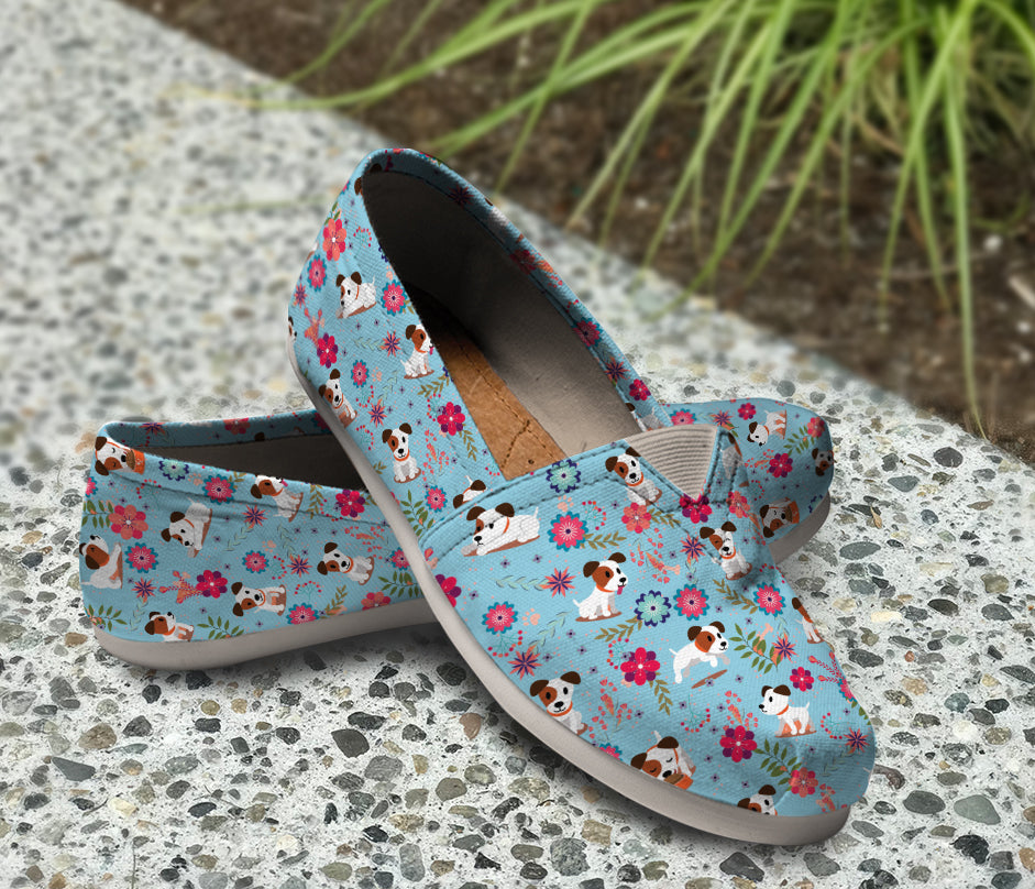 Jack Russell Floral Blue Casual Shoes