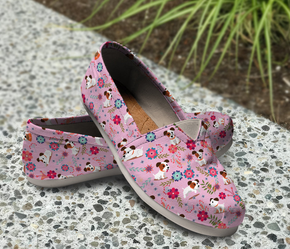 Jack Russell Floral Light Purple Causal Shoes