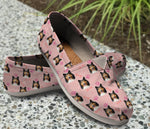 Beautiful Sheltie Pink Pattern Casual Shoes