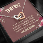 "Husband To Wife - ""I'm Not Perfect"" Interlocking Hearts Necklace"
