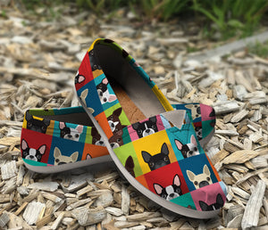 Awesome Boston Terrier Pattern Casual Shoes