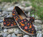 Beautiful Floral Dachshund Casual Shoes