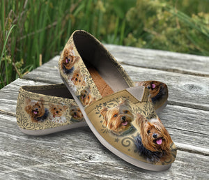 Beautiful Custom Designed Yorkie Casual Shoes