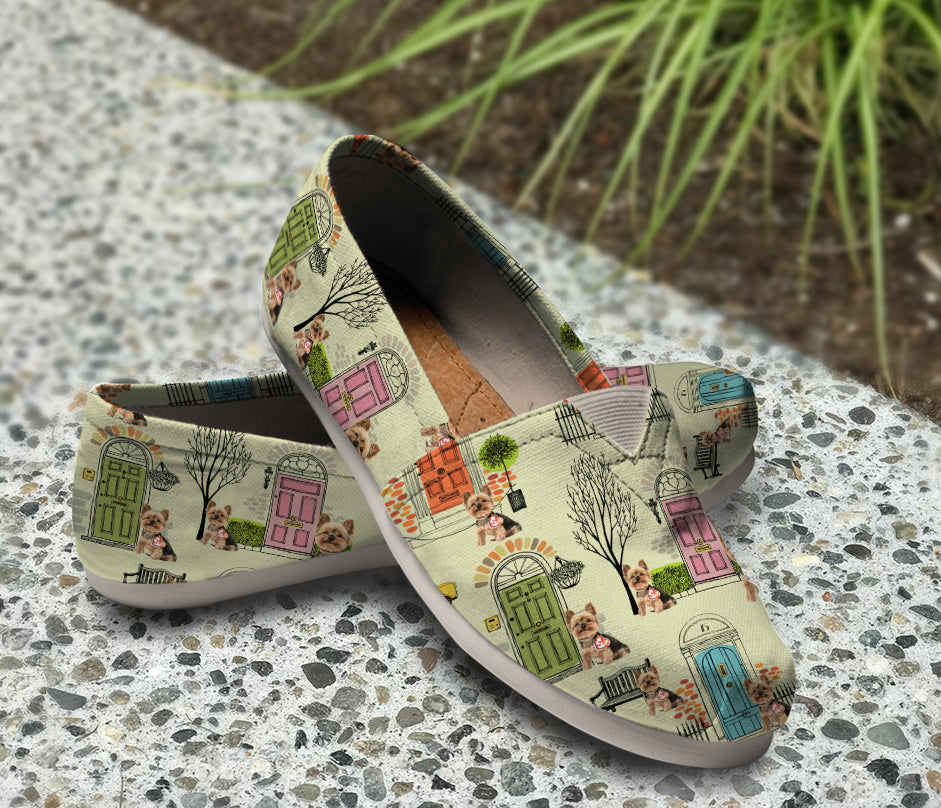 Awesome Custom Designed Yorkie Pattern Casual Shoes
