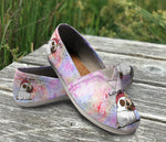 Beautiful Custom Designed Causal Shoes - I Love My Pug Mix Purple & Pink Color