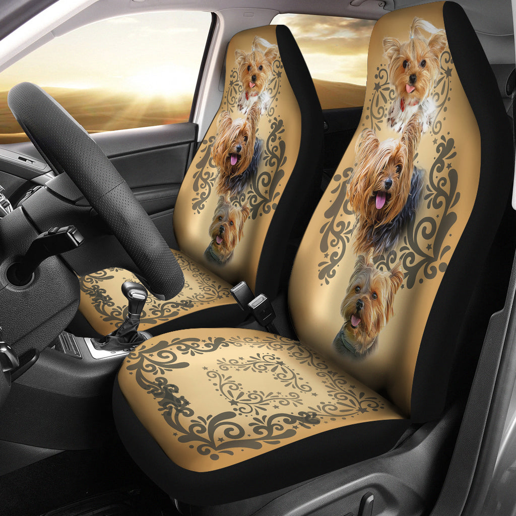 Lovely Yorkies Car Seat Covers