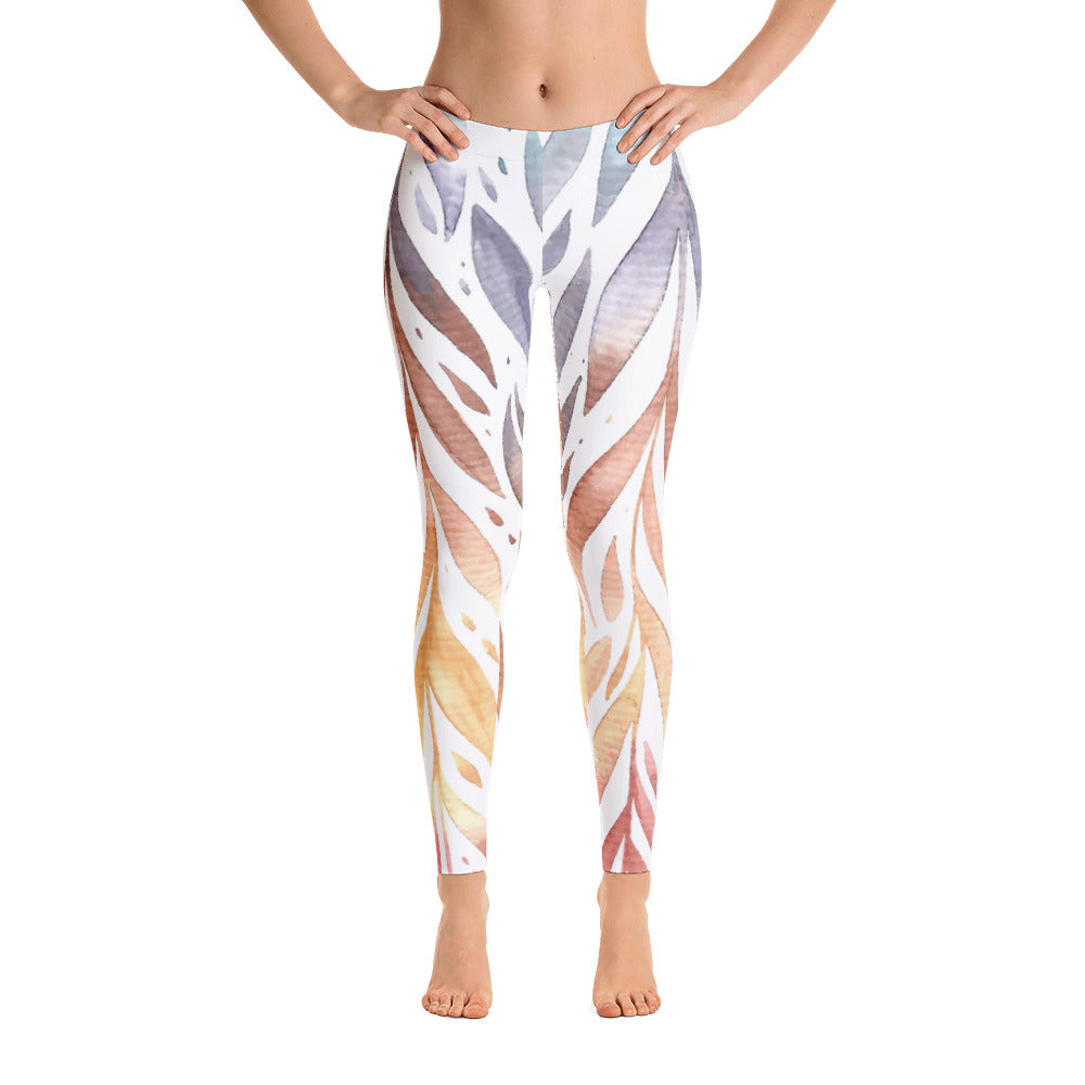 Beautiful Floral Color Flame Custom Designed Legging