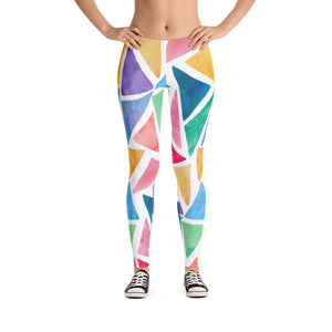Beautiful Color Art Triangles Leggings