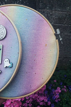 Load image into Gallery viewer, Pastel Rainbow Pin Hoop