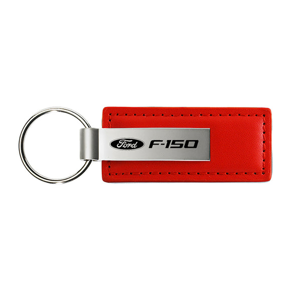 Ford F-150 Keychain & Keyring - Red Premium Leather