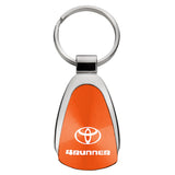 Toyota 4Runner Keychain & Keyring - Orange Teardrop