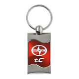 Scion tC Keychain & Keyring - Red Wave