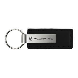 Acura RL Keychain & Keyring - Premium Black Leather