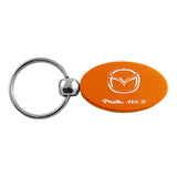 Mazda Miata MX-5 Keychain & Keyring - Orange Oval