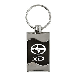 Scion xD Keychain & Keyring - Black Wave
