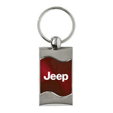 Jeep Keychain & Keyring - Burgundy Wave