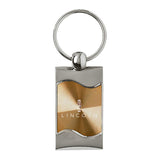 Lincoln Keychain & Keyring - Gold Wave