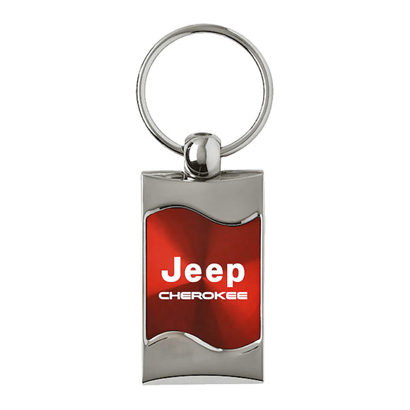 Jeep Cherokee Keychain & Keyring - Red Wave
