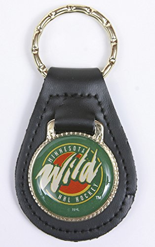 Minnesota Wild NHL Keychain & Keyring - Leather