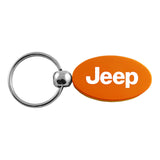 Jeep Keychain & Keyring - Orange Oval