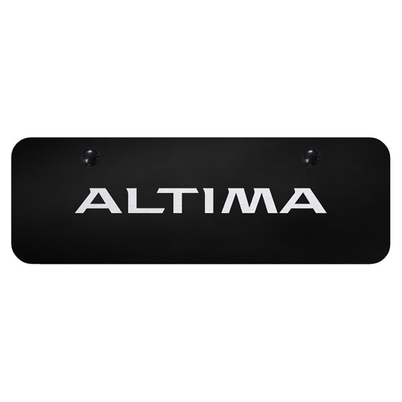 Nissan Altima Laser Etched on Black Mini Plate