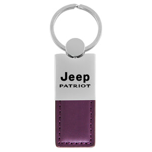 Jeep Patriot Keychain & Keyring - Duo Premium Purple Leather