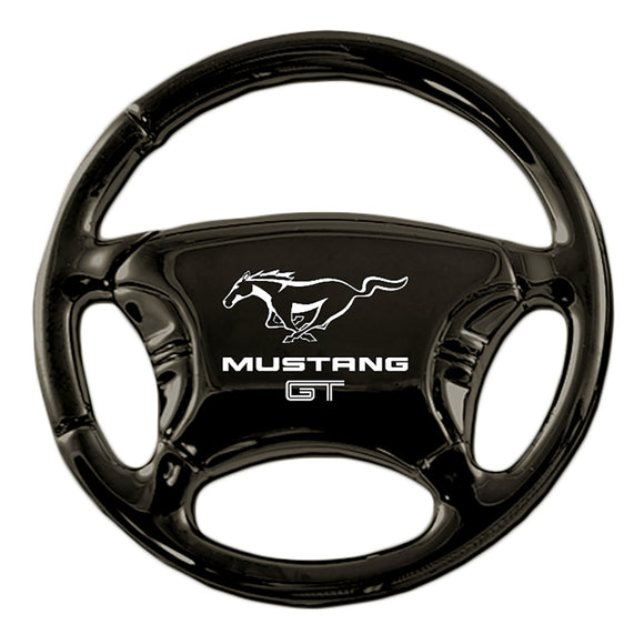 Ford Mustang GT Keychain & Keyring - Black Steering Wheel