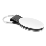 Honda Civic Keychain & Keyring - Black Leather Oval