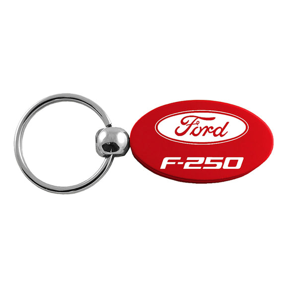 Ford F-250 Keychain & Keyring - Red Oval